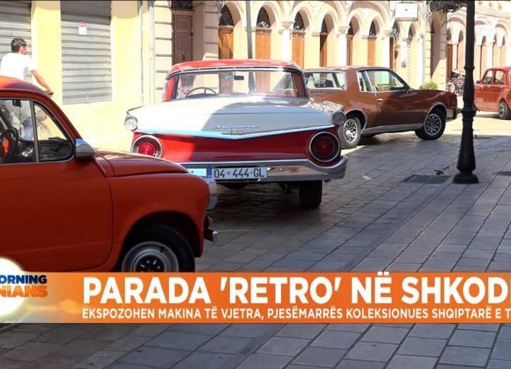 Parada 'retro' në Shkodër, ekspozohen makina të vjetra